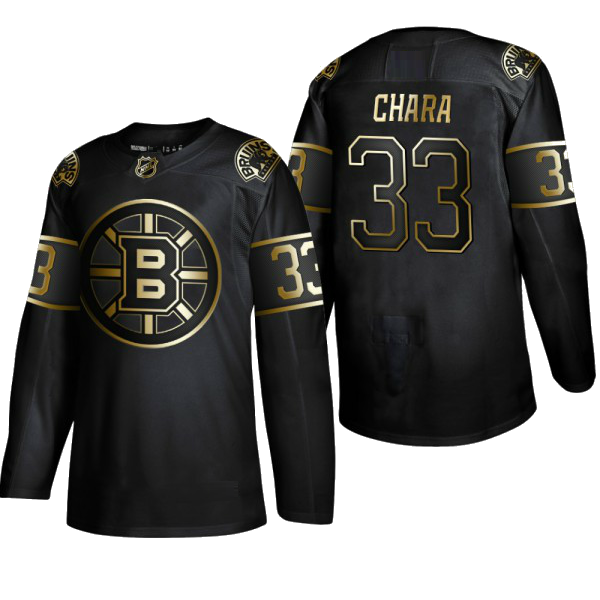 BOSTON BRUINS BLACK-GOLD - Marchand; Chara