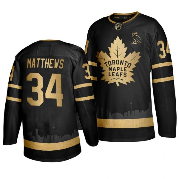 TORONTO MAPLE LEAFS BLACK-GOLD - Matthews