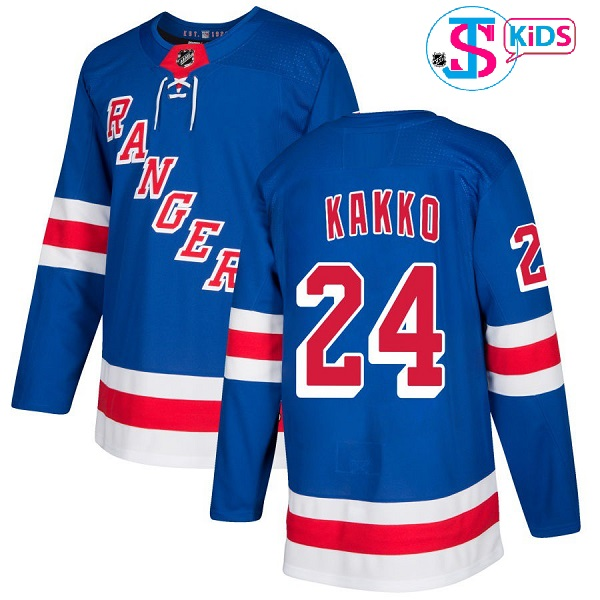 "NEW YORK RANGERS BLUE ""Kid"" - Kakko; Lundqvist; Messier; Zuccarello; McDonagh"