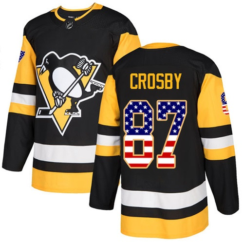 "PITTSBURGH PENGUINS BLACK ""USA Flag"" - Crosby; Malkin"