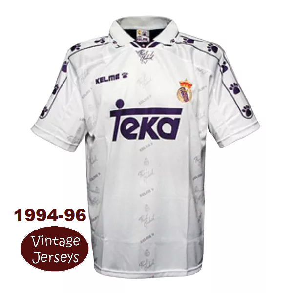 "REAL MADRID HOME ""Vintage Jersey"" – 1994-96"