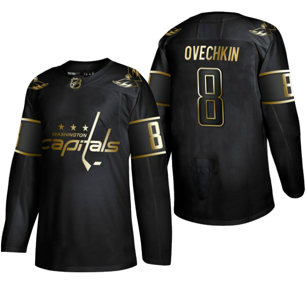 WASHINGTON CAPITALS BLACK-GOLD - Ovechkin